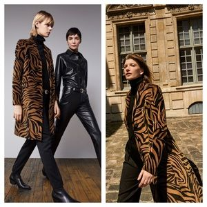 NILI LOTAN Rosalin Bronze Tiger Coat